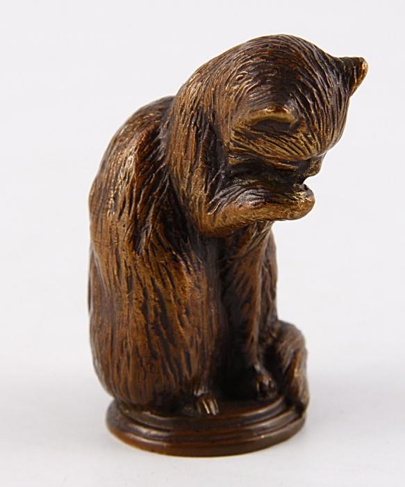 Статуэтка Кошка в стиле французского анимализма. Бронза. The Franklin Mint, США, конец XX века статуэтка franklin mint кошка серый
