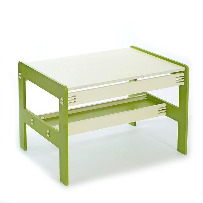Детский стол Форатойс 240103/4, бежевый, зеленый