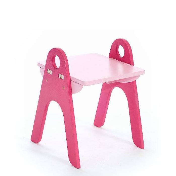 """Детский стул Форатойс """"Табурет-стеллаж"""", розовый, светло-розовый"""