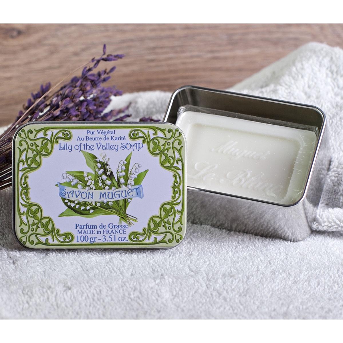 Натуральное мыло в жестяной коробочке с ароматом мыло ручной работы le blanc оливки в жестяной коробочке 100 г франция