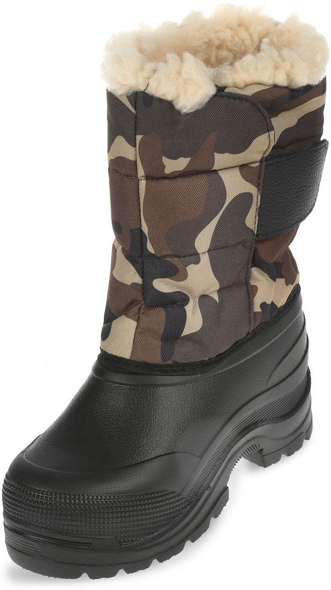 Сапоги зимние EVA Shoes Винсон (-40), цвет: черный, камуфляж. Размер 44