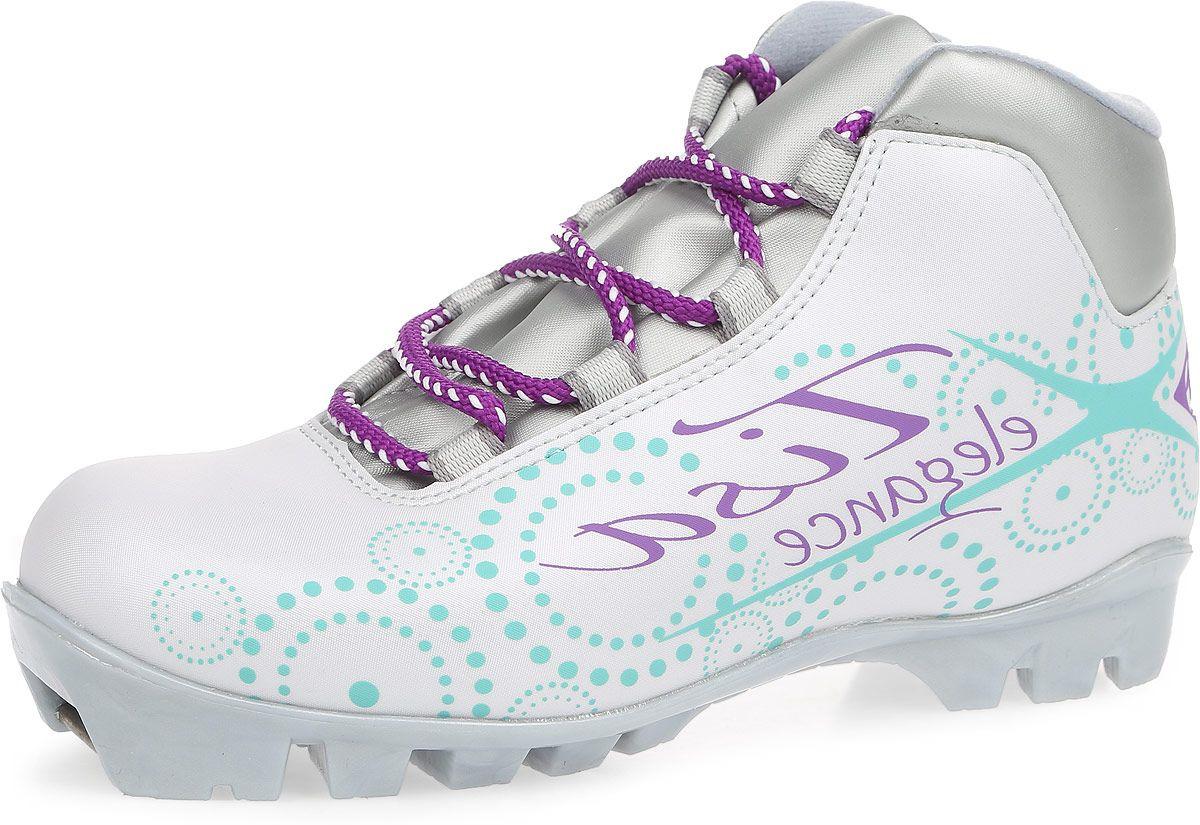 Ботинки лыжные беговые Tisa Sport Lady NNN, цвет: белый, серый, бирюзовый. Размер 38 цена