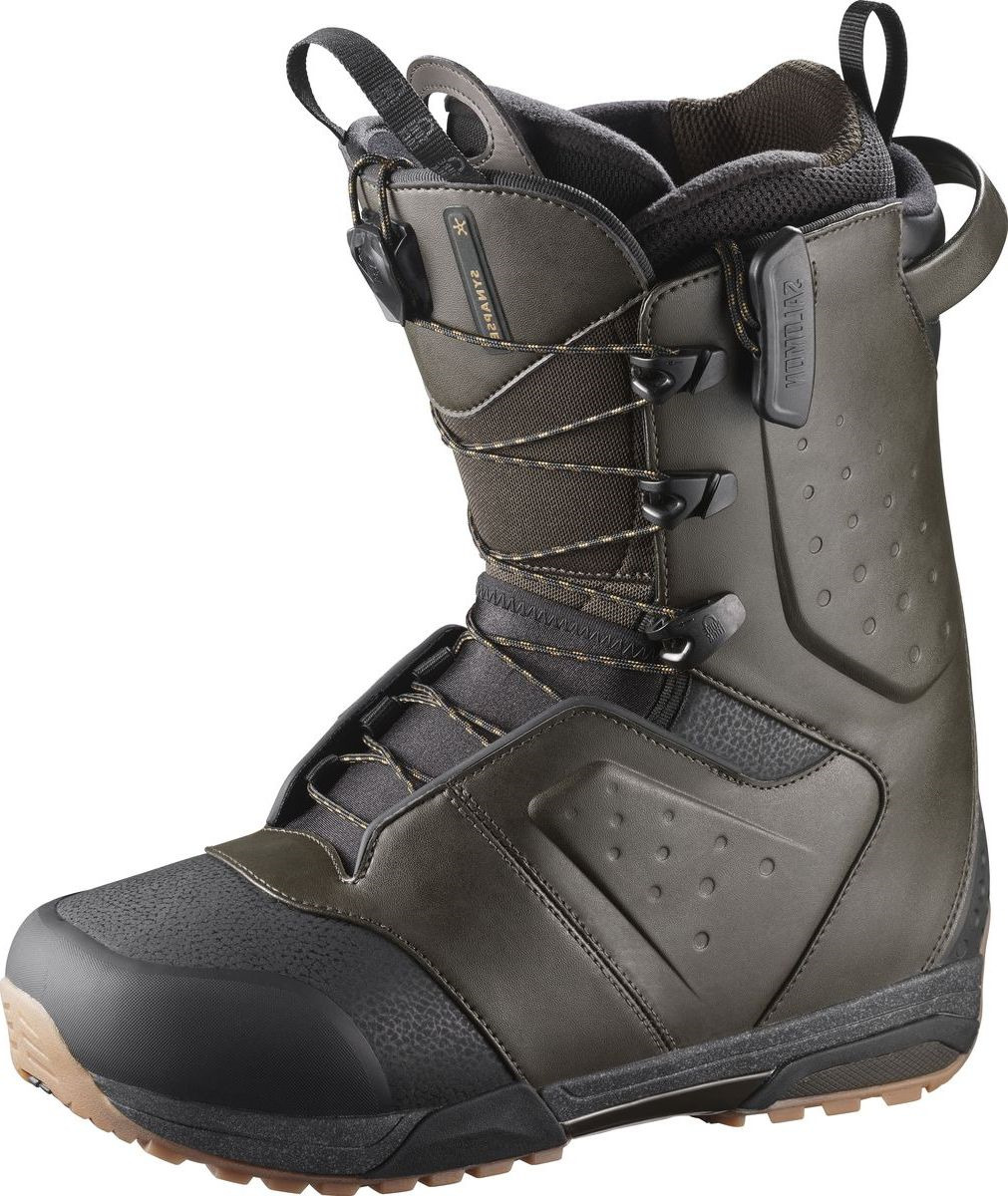 "Ботинки для сноуборда Salomon ""Synapse"", цвет: темно-зеленый. Размер 29 (44)"