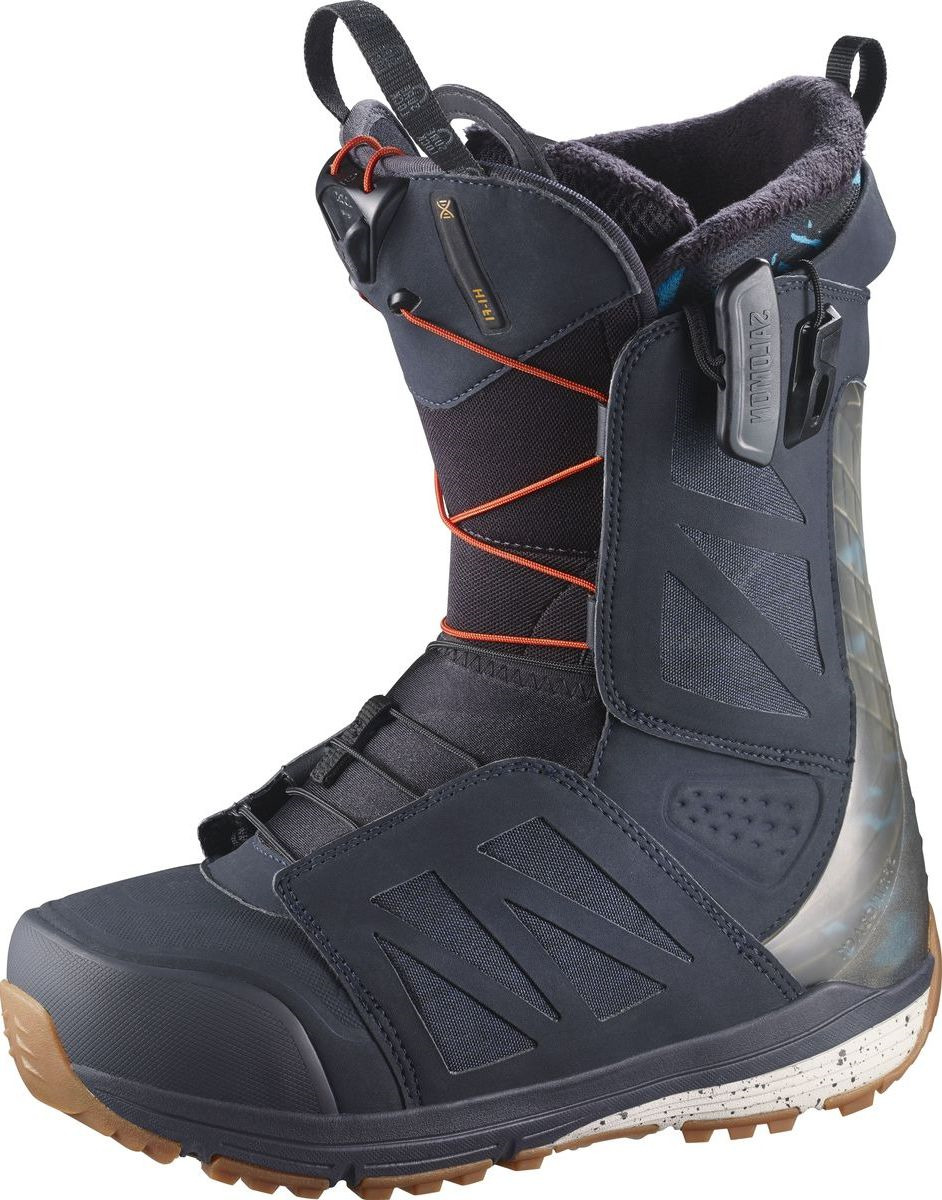 "Ботинки для сноуборда Salomon ""Hi-Fi Wide"", цвет: синий, хаки. Размер 30 (45,5)"