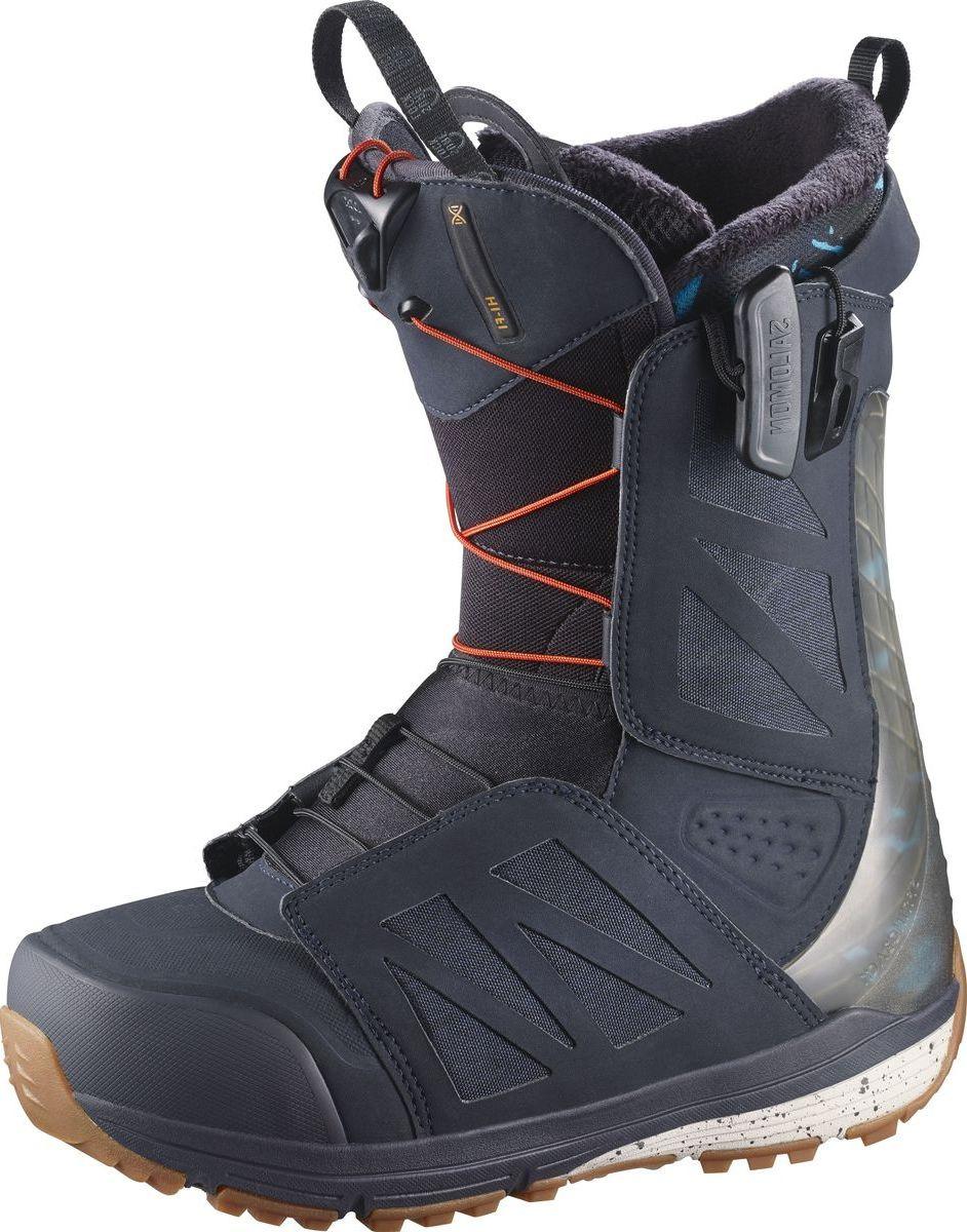 "Ботинки для сноуборда Salomon ""Hi-Fi Wide"", цвет: синий, хаки. Размер 30,5 (46,5)"