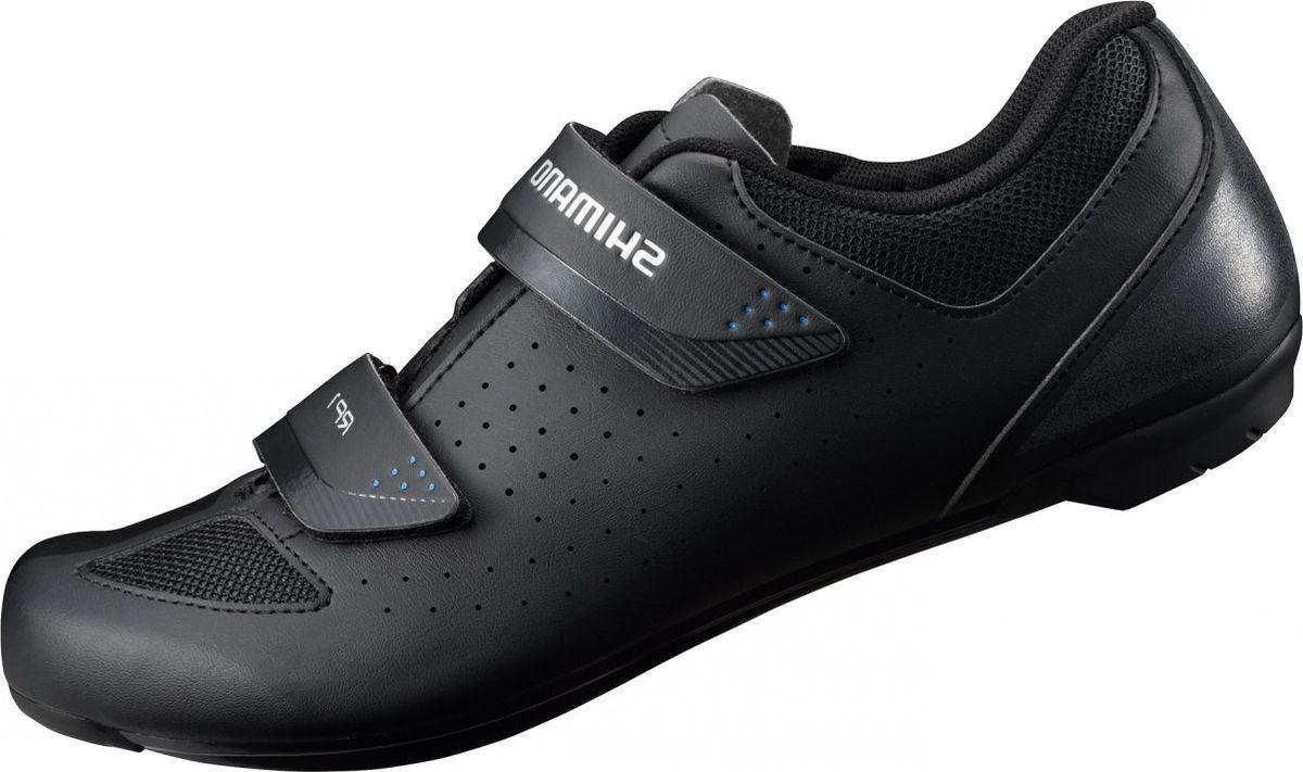 Велотуфли мужские Shimano SH-RP100, цвет: черный. Размер 39SH-RP100Универсальные тренировочные шоссейные туфли, обладающие качеством, комфортом и функциональностью Shimano.Особенности Комфортная посадка и исключительно надёжная поддержка для педалирования Двойные ремешки на липучке обеспечивают надежную посадку Легкая нейлоновая подошва, усиленная стекловолокном Эта модель подходит для занятий в помещениях и совместима с шипами SPD и SPD-SL Светоотражающая аппликация на заднике для улучшения заметности
