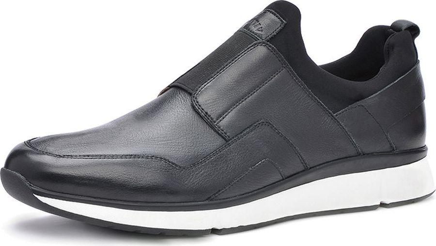Кроссовки мужские Vitacci, цвет: черный. M105010. Размер 43M105010Мужские кроссовки от Vitacci выполнены из натуральной кожи. Стелька из натуральной кожи гарантирует комфорт при носке. Гибкая и легкая подошва, выполненная из ТПУ, долговечна и обеспечивает высокую устойчивость к деформациям. Рифление на подошве гарантирует отличное сцепление с поверхностью.