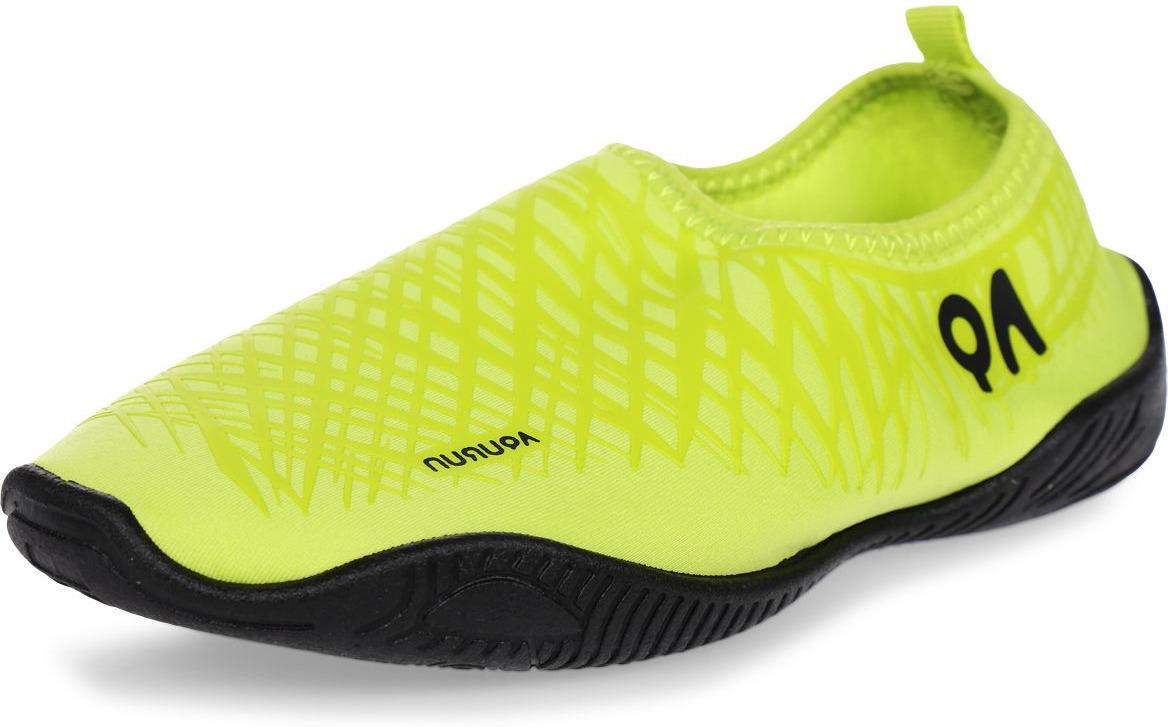 Обувь для кораллов Aqurun Edge, цвет: салатовый. AQU-GRGR. Размер 34/35AQU-GRGR-220-us5wПляжные тапки Aqurun предназначены для бега по песку, мелкой галке и плавания в воде. Легкие, практически не чувствуются на ноге. Верх тапок – спандекс. Дышащий материал, защищает от ультрафиолета, быстро сохнет. Подошва ТПР. Эластичная подошва из ТПР (термопластическая резина). Дренажная система подошвы. Стелька EVA. Дополнительная поддержка пятки улучшает плотную посадку на стопе. Подошва прикрывает пальцы ног для их дополнительной защиты. ВНИМАНИЕ! • Не сгибайте зону пятки. • Промывайте только проточной водой. • Не храните в мокром состоянии. • Ходите с осторожностью по мокрым поверхностям. • Не размещайте тапки вблизи огня или источника тепла, так как это может вызвать деформацию тапок. • Пляжные тапки предназначены для бега по песку, мелкой галке и плавания в воде. При хождении в тапках по бетонному или асфальтовому покрытию возможен быстрый износ или повреждение подошвы.