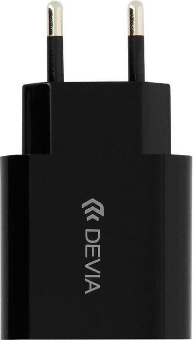 цены на Сетевое зарядное устройство Devia Smart Charger 2A 10.5W, черный  в интернет-магазинах