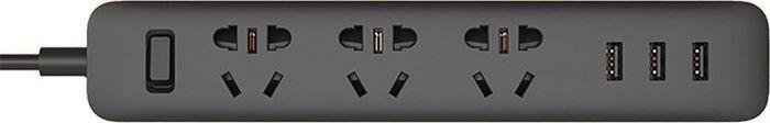 Сетевое зарядное устройство Xiaomi Mi Power Strip 2.1 А, черный удлинитель xiaomi mi power strip 3 usb