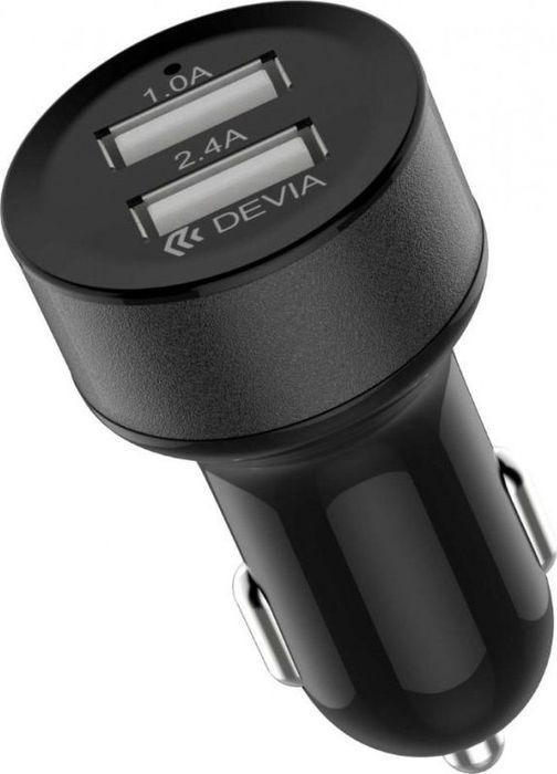 Автомобильное зарядное устройство Devia Smart Dual USB Car Charger, черный чистящее средство для унитаза bref сила актив с хлор компонентом 50г