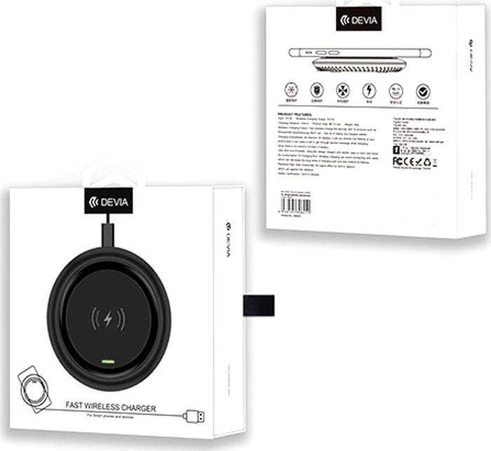 Беспроводное зарядное устройство Devia Allen Wireless Ultra Thin Charger 5W, белый Devia