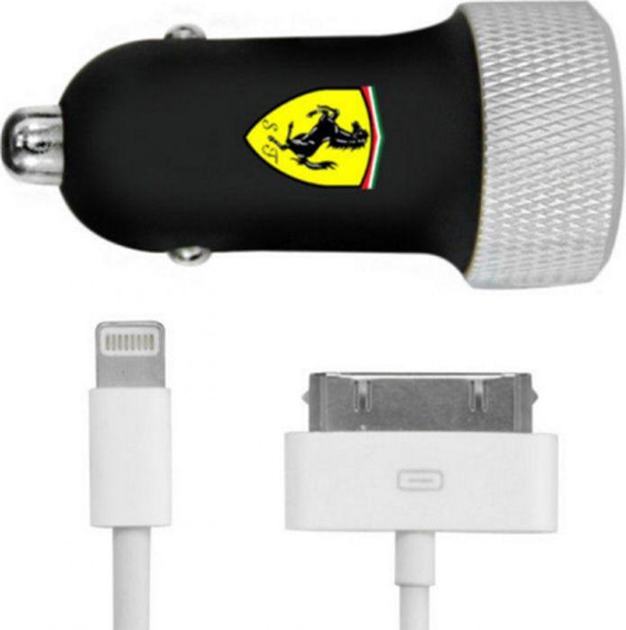 Автомобильное зарядное устройство CG Mobile Ferrari Car Charger 2.1А + Apple Lightning, черный promotion 5 pcs 5 5mmx2 1mm dc power jack socket female panel mount connector