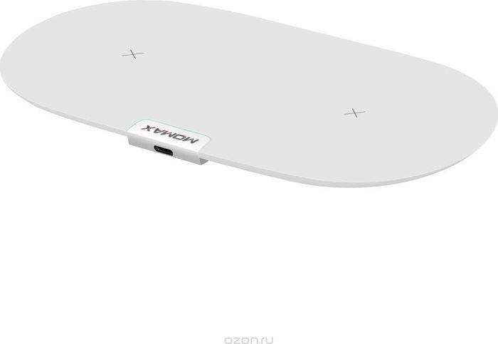 Фото - Беспроводное зарядное устройство Momax Q.Pad Dual Wireless Charger UD10, белый беспроводное зарядное устройство тотем z 3818q05b 201804 белый