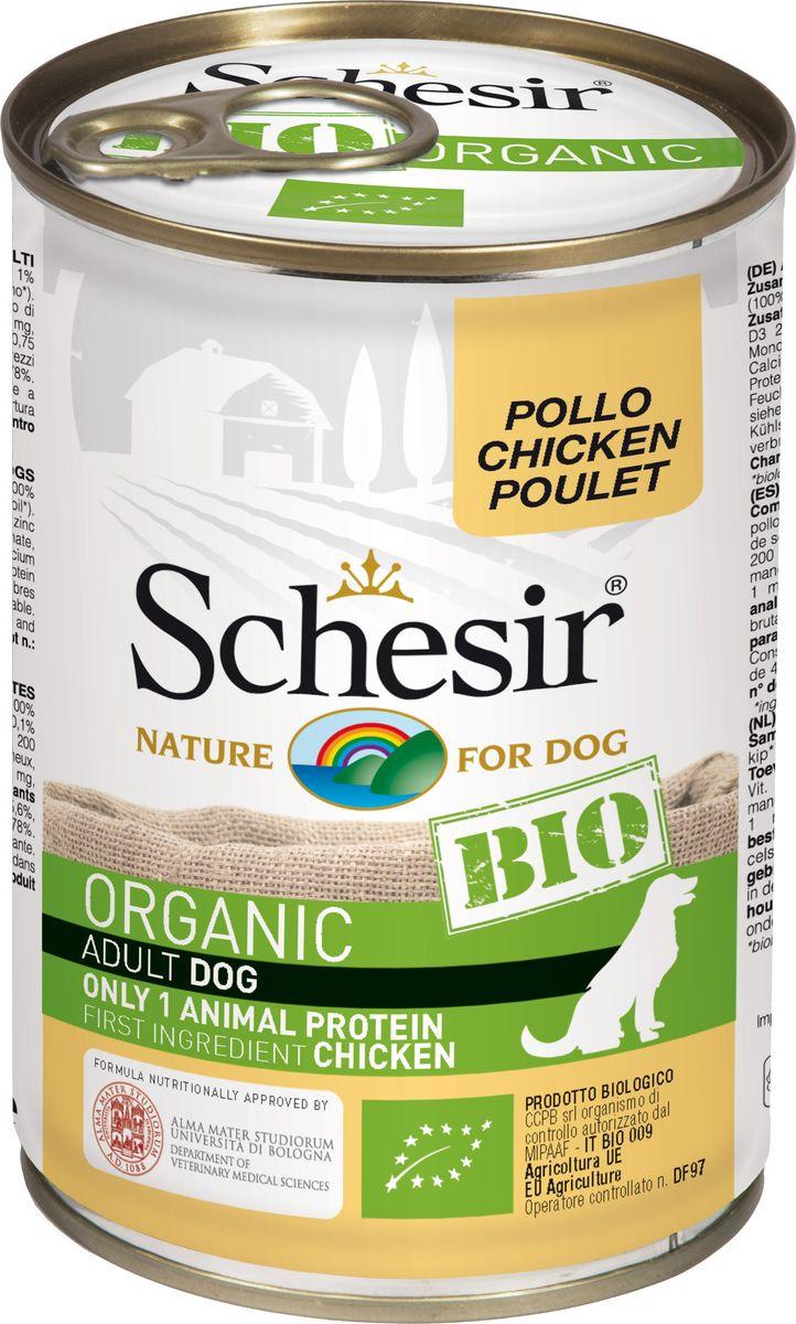 Корм консервированный Schesir Bio, для собак, курица, 400 г корм иннова для собак