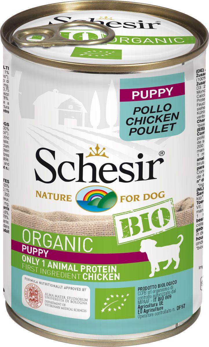 Корм консервированный Schesir Bio, для щенков, курица, 400 г132.2.С8108Полнорационный корм для щенков.