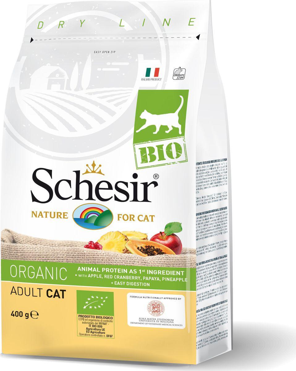 Корм сухой Schesir Bio, для кошек, домашняя птица, 400 г корм сухой для кошек pcg ме о gold для персидских и длинношерстных 400 г