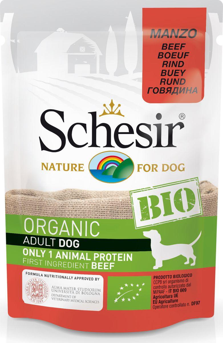 Корм консервированный Schesir Bio, для собак, говядина, 85 г корм иннова для собак