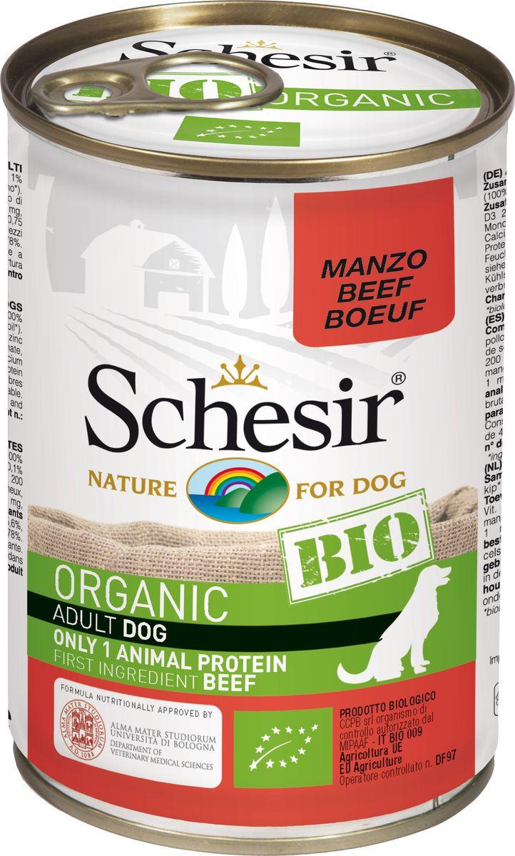 Корм консервированный Schesir Bio, для собак, говядина, 400 г корм иннова для собак