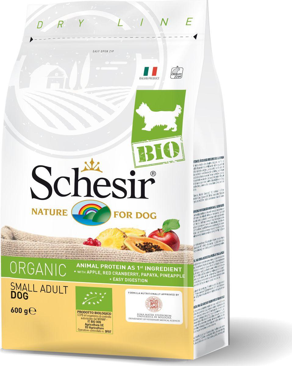 Корм сухой Schesir Bio, для собак, домашняя птица, 600 г корм сухой schesir для длинношерстных кошек 400 г