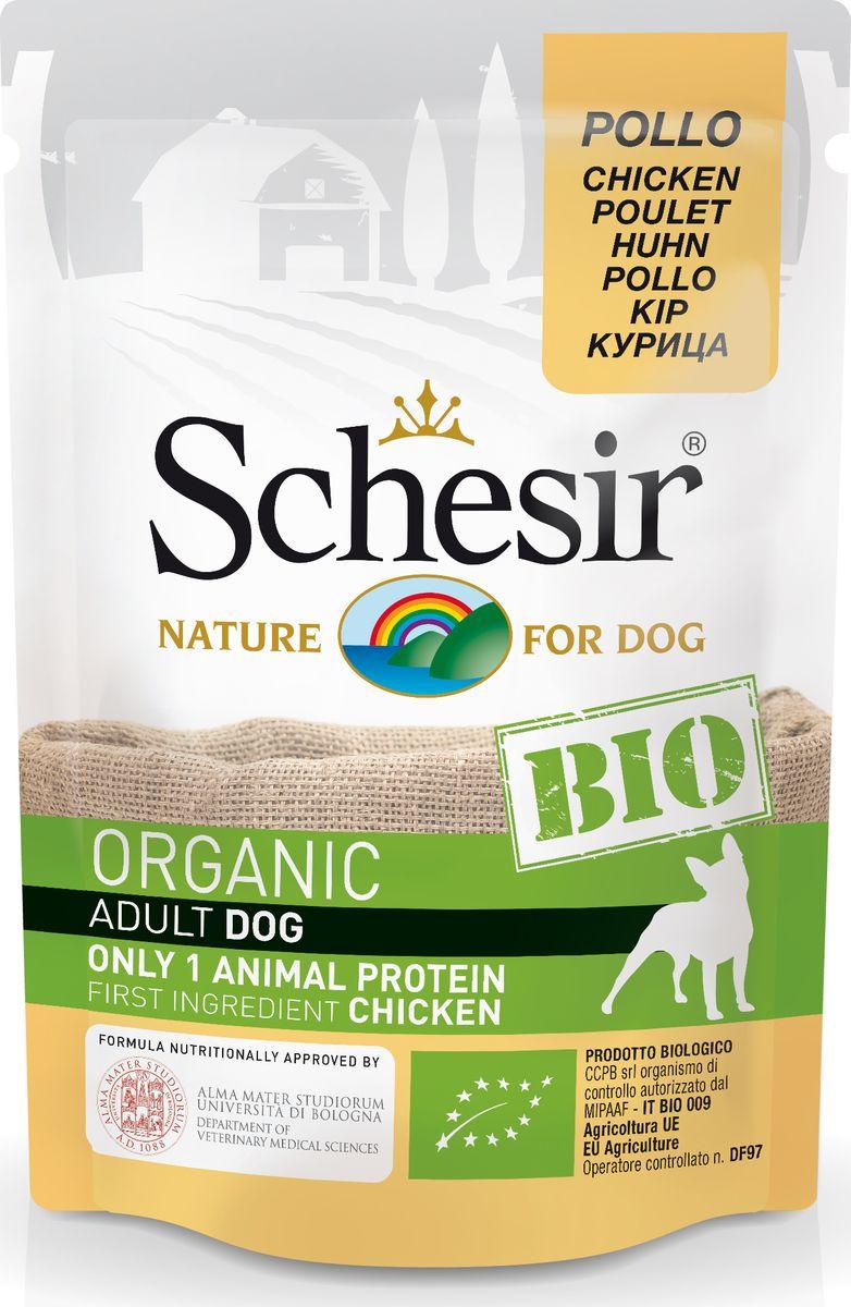 Корм консервированный Schesir Bio, для собак, курица, 85 г корм для собак yokkadog где производят