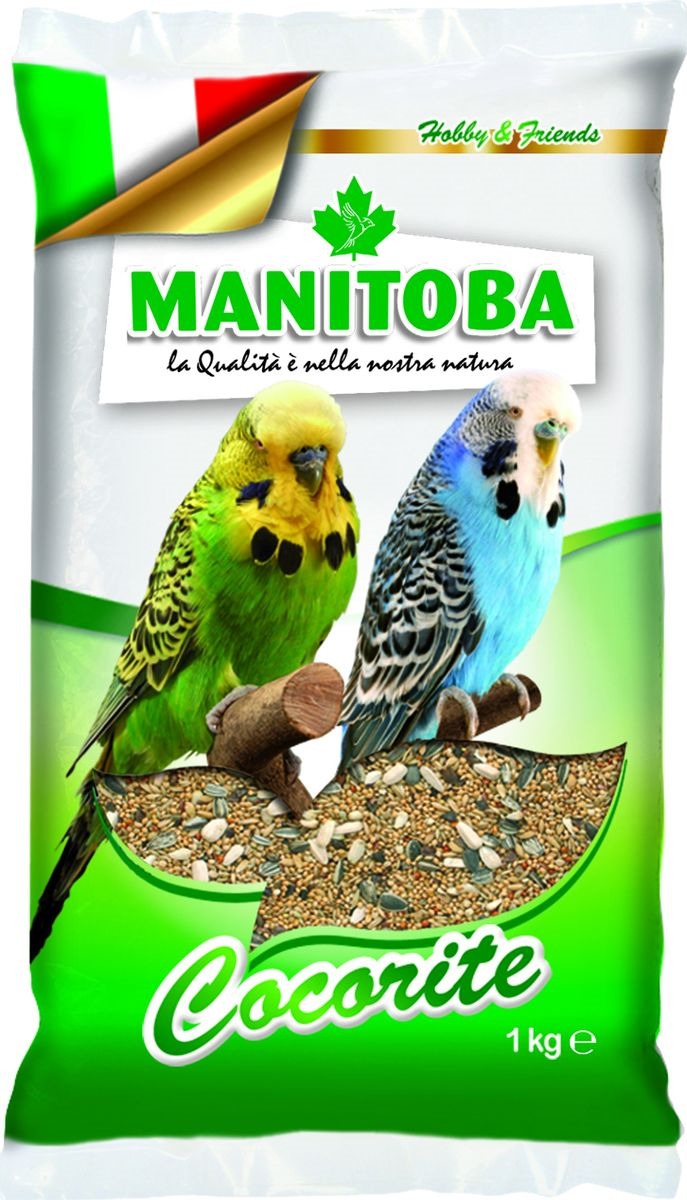 Корм сухой Manitoba, для волнистых попугаев, 1 кг корм сухой cliffi superior mix pappagallini with biscuit бисквит для волнистых попугаев 5000 г