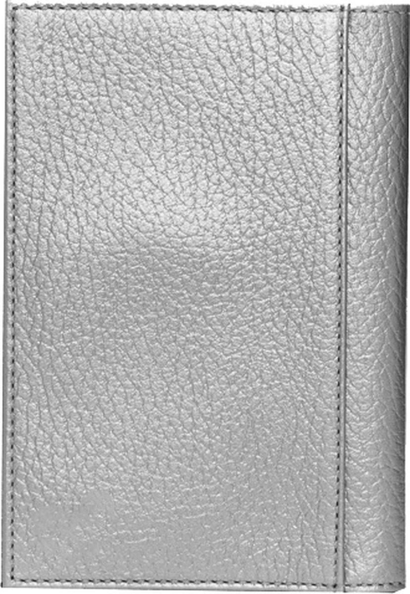 Обложка для паспорта женская Fabula Tiara, O.97.TR, серый металлик цена