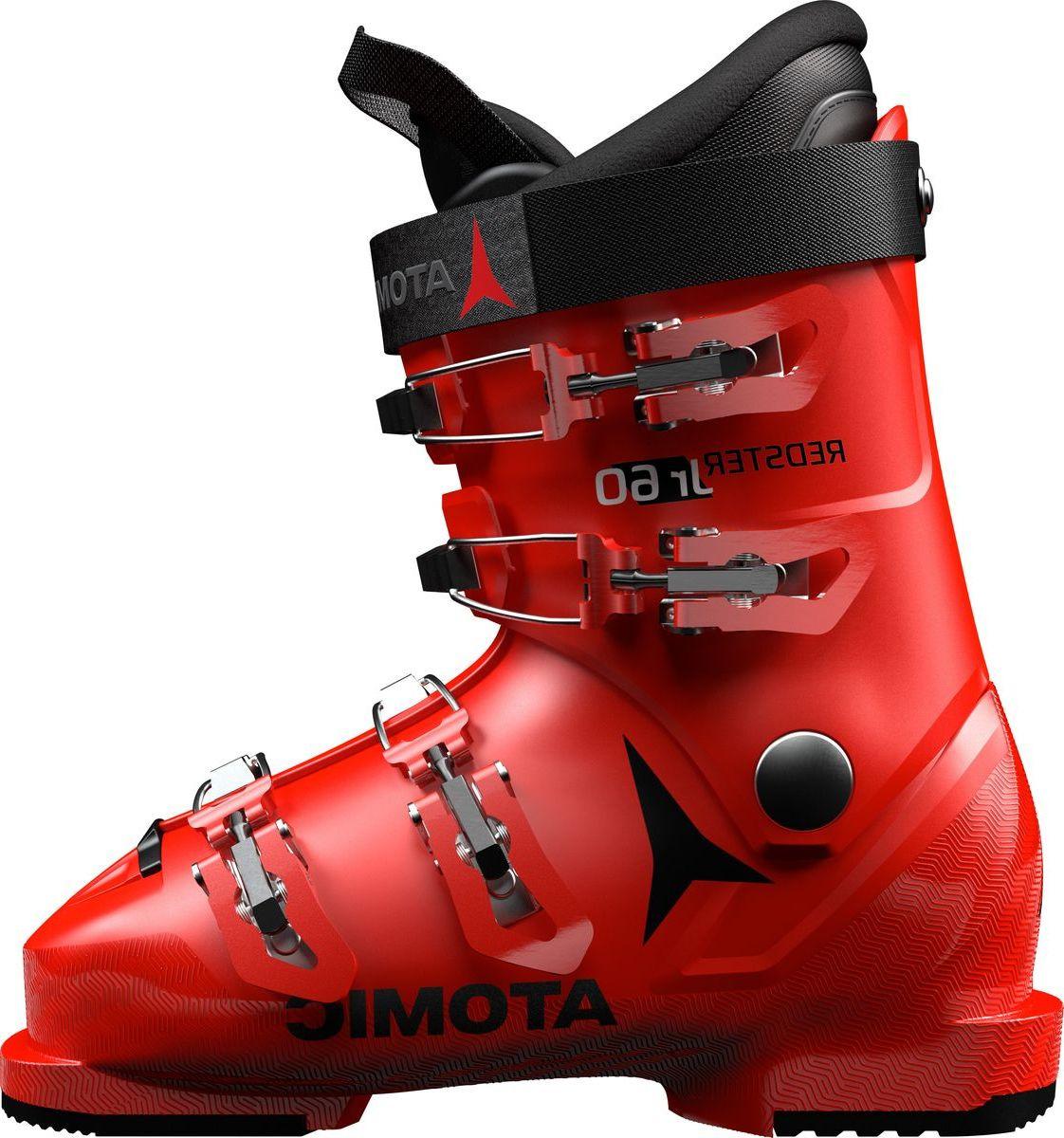 Ботинки горнолыжные Atomic Redster Jr 60, цвет: красный, черный. Размер 31,5/32