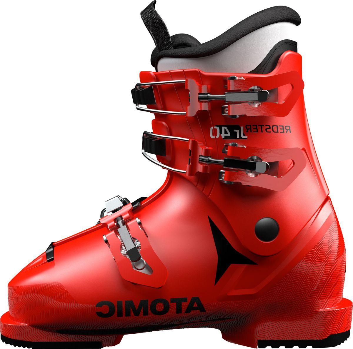 Ботинки горнолыжные Atomic Redster Jr 40, цвет: красный, черный. Размер 29,5/31