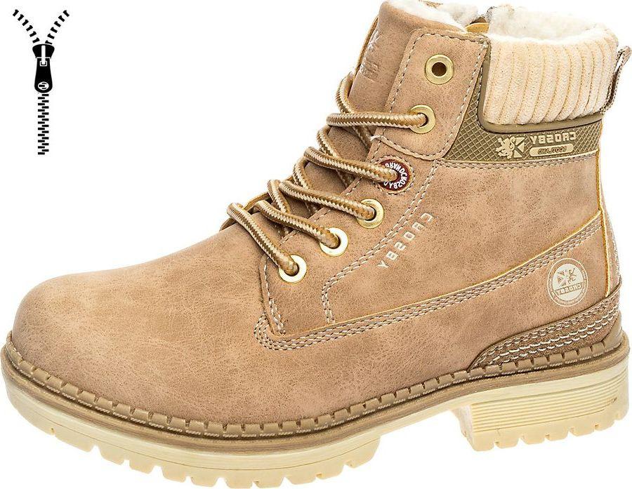 Ботинки для девочки Crosby, цвет: бежевый. 288360/01-04. Размер 36288360/01-04