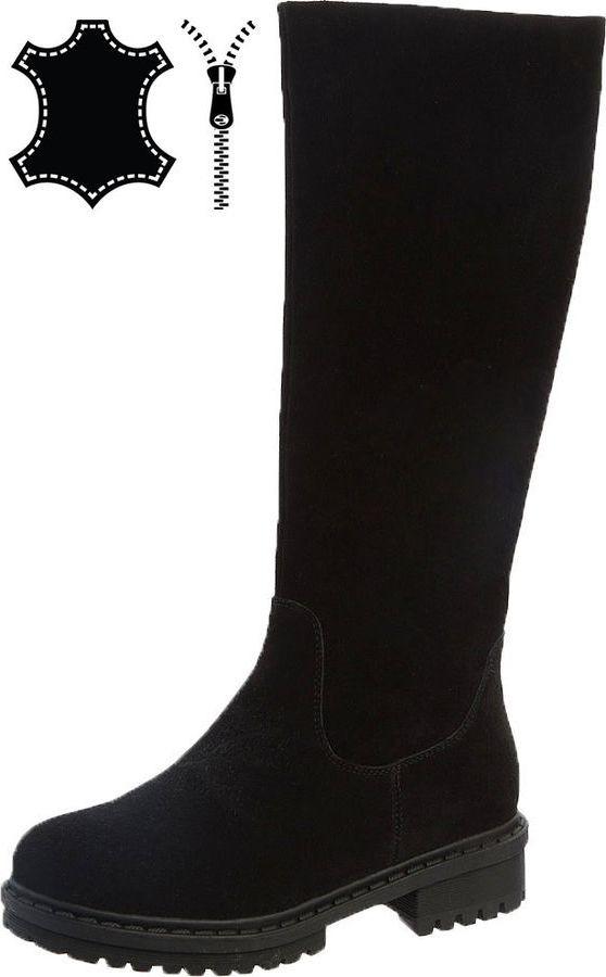 Сапоги для девочки Betsy, цвет: черный. 988341/07-05. Размер 35