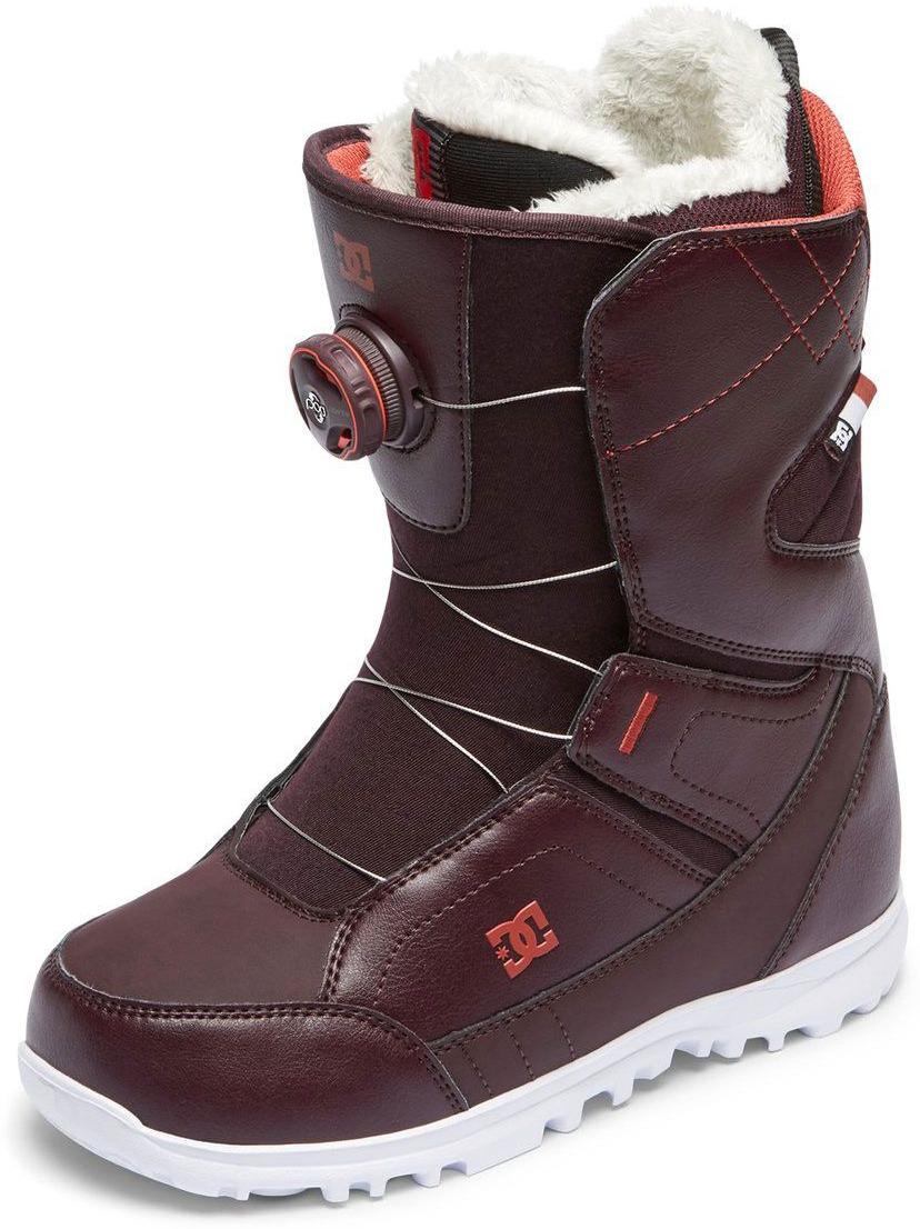 Ботинки для сноуборда DC Shoes SEARCH J BOAX WIN, цвет: вишневый. Размер 10B (42)