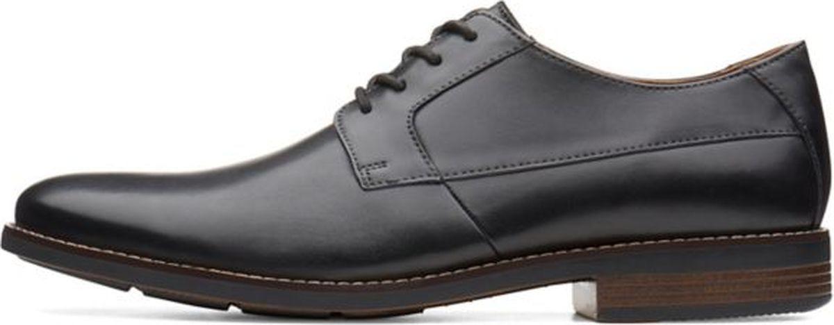 Туфли мужские Clarks Becken Plain, цвет: черный. 26123148. Размер 8 (42)26123148