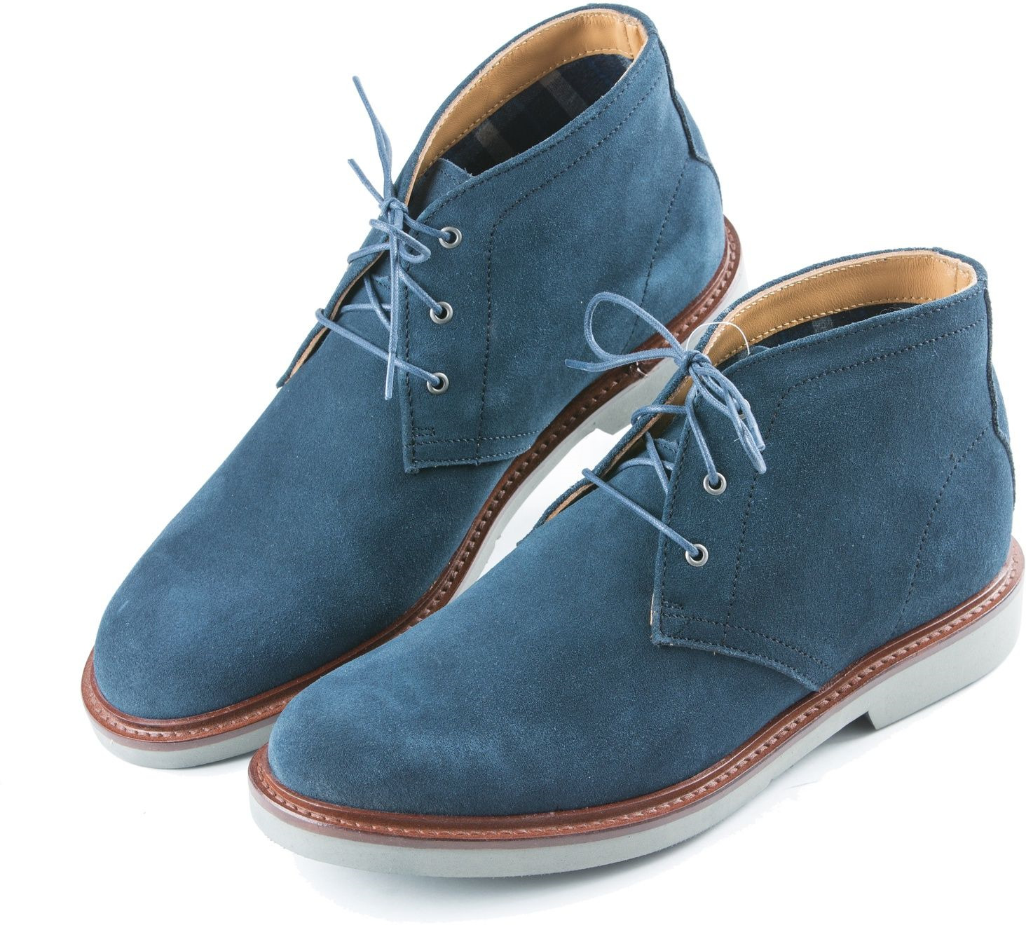 Туфли John Henry, JH02B, цвет: синий. Размер 41JH02B/Мужские туфли, натуральная замша