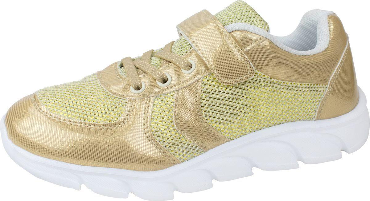 Кроссовки для девочки Lets, цвет: золотой. LSK40640-20. Размер 34LSK40640-20Кроссовки из искусственной кожи и текстиля, на подошве из ПВХ.
