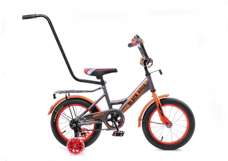 Велосипед детский Black Aqua, НН-1801, со светящимися колесами, колесо 18, серый, оранжевый