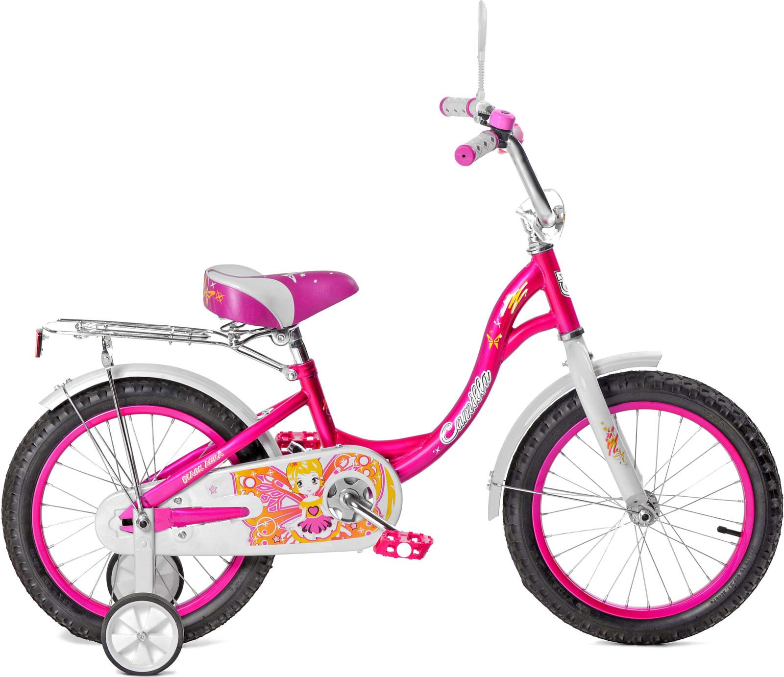 Велосипед детский Black Aqua Camilla, KG1217, со светящимися колесами, колесо 12, розовый цена