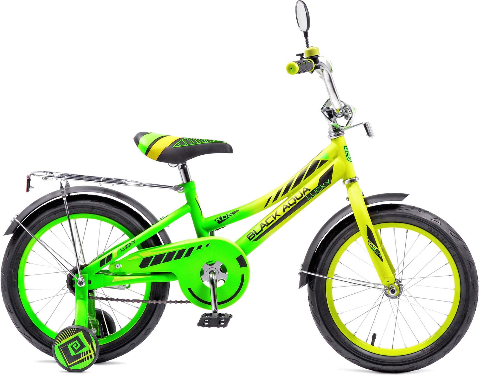 Велосипед детский Black Aqua Lucky, KG1218, с ручкой, колесо 12, лимонный, салатовыйKG1218Велосипед с прочной стальной рамой, колесами размером 12 дюймов. В комплектацию входит: багажник, звонок, крылья. На моделях с колесами 12 и 14 дюймов установлена ручка-толкатель. Велосипед оснащен боковыми колесам для устойчивого положения велосипеда. Установлена защита цепи, что бы ребенок при движении не травмировал ногу. Рекомендуем!