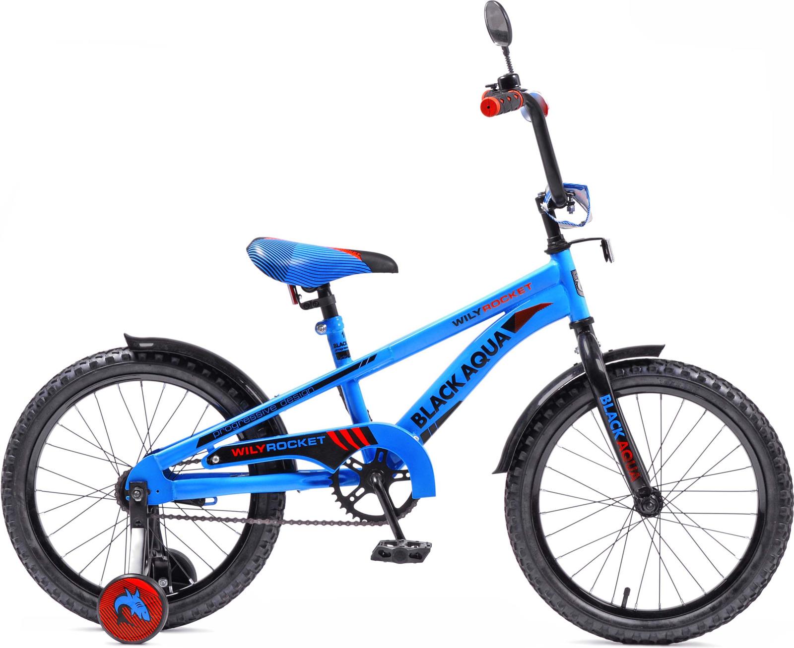 Велосипед детский Black Aqua Wily Rocket, KG1808, колесо 18, синий