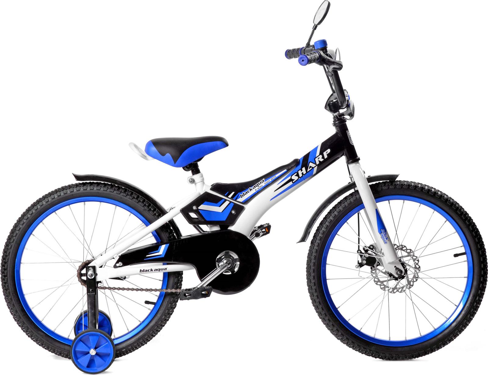 Велосипед детский Black Aqua Sharp, KG1210, колесо 12, синий