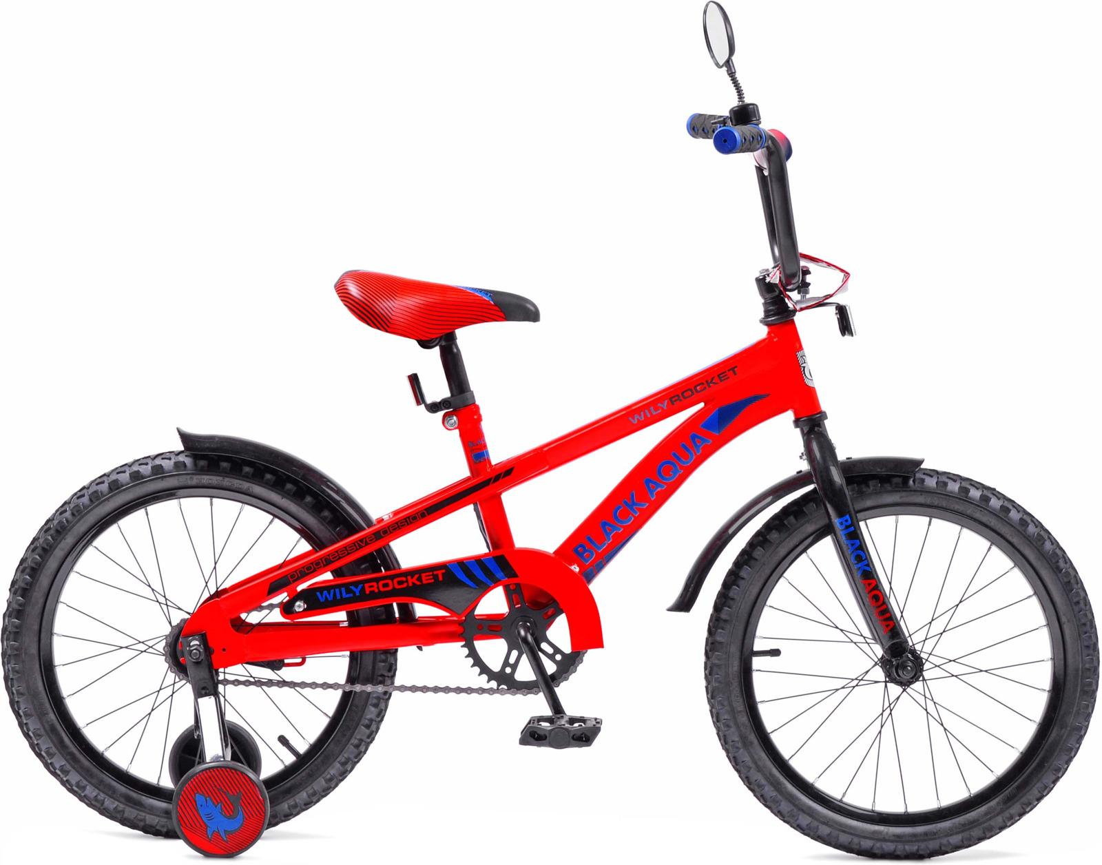 Велосипед детский Black Aqua Wily Rocket, KG2008, колесо 18, огненно-красный