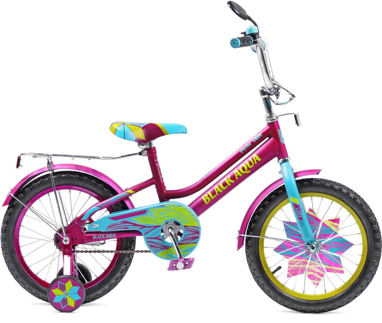 Фото - Велосипед детский Black Aqua Lady, KG1215, колесо 12, фиолетовый, бирюзовый боди детский luvable friends 60325 f бирюзовый р 55 61