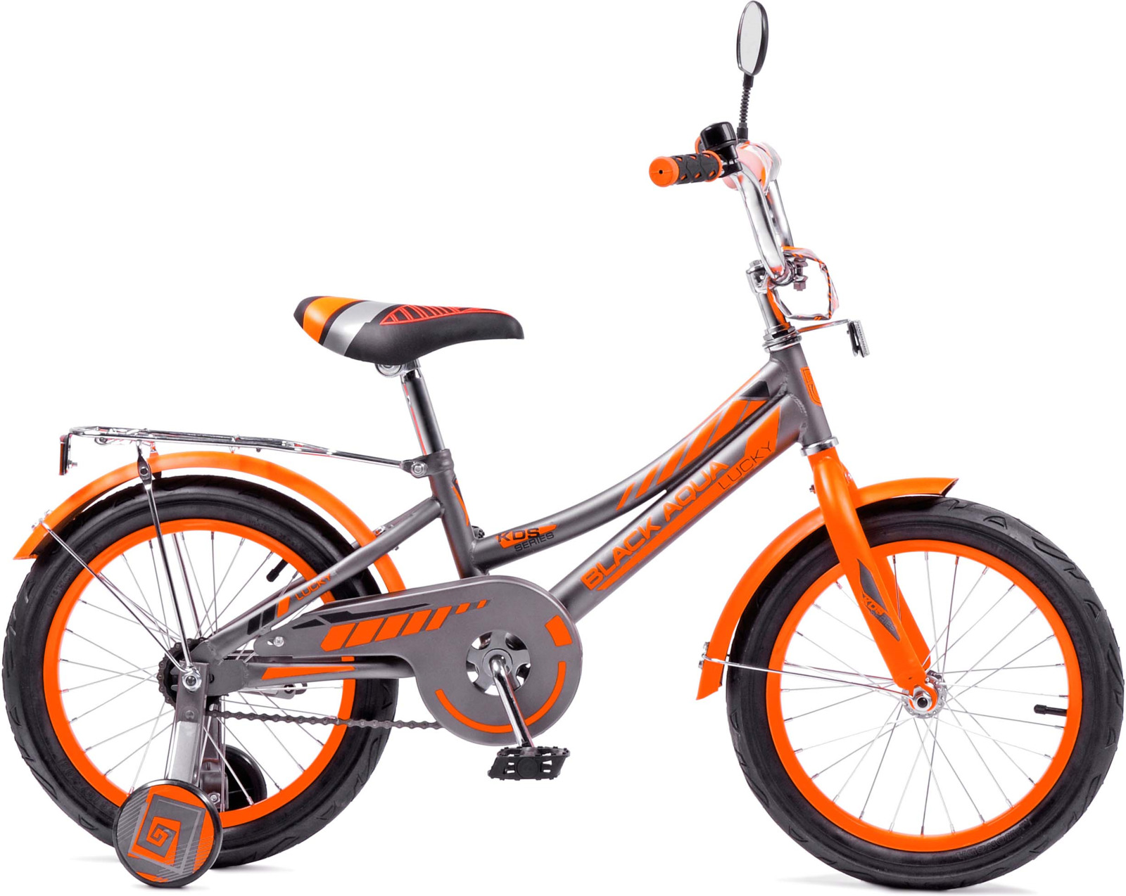 Велосипед детский Black Aqua Lucky, KG1418, с ручкой, колесо 14