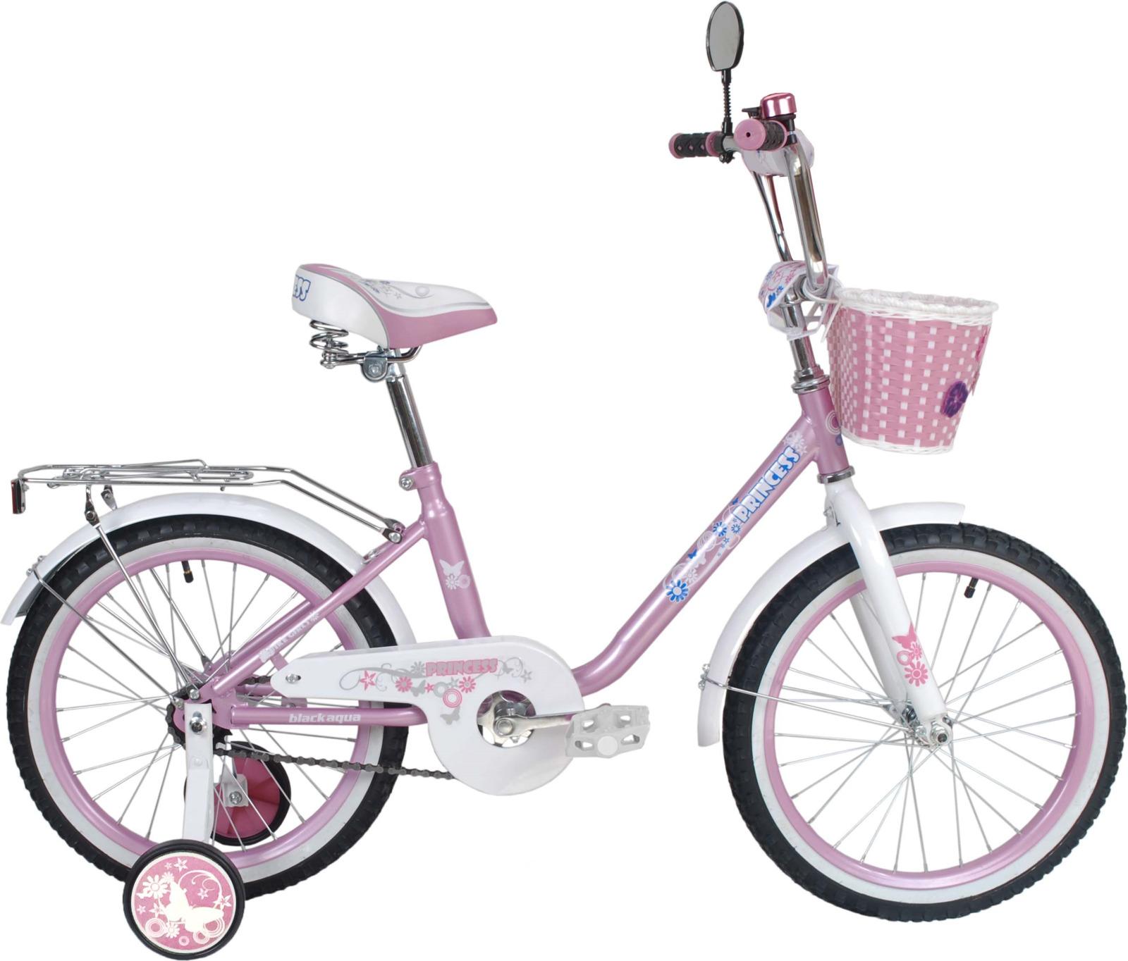 Велосипед детский Black Aqua Princess, KG1602, колесо 16, розовый, белый
