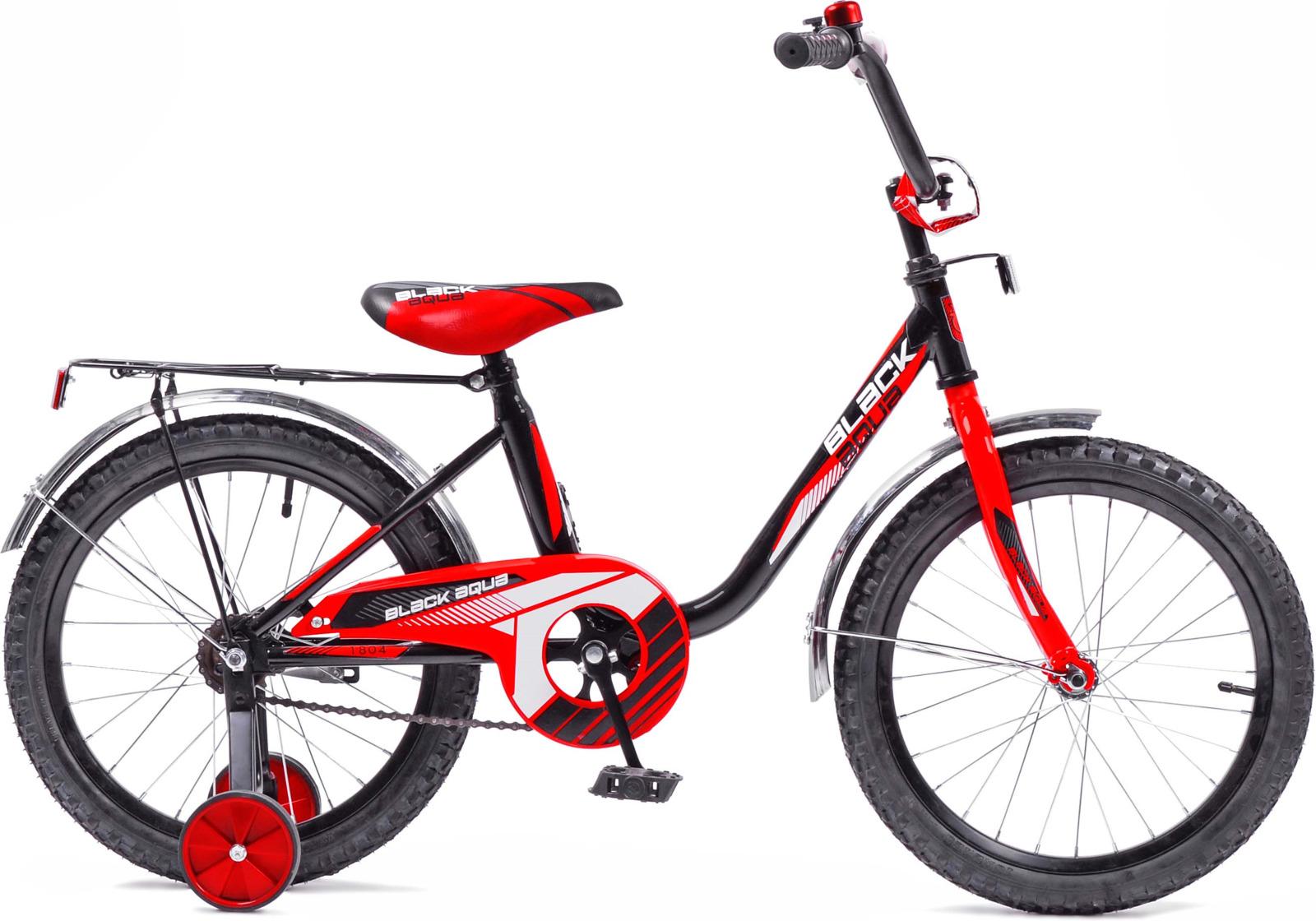 Велосипед детский Black Aqua, DK-1204, колесо 12, черный, красный