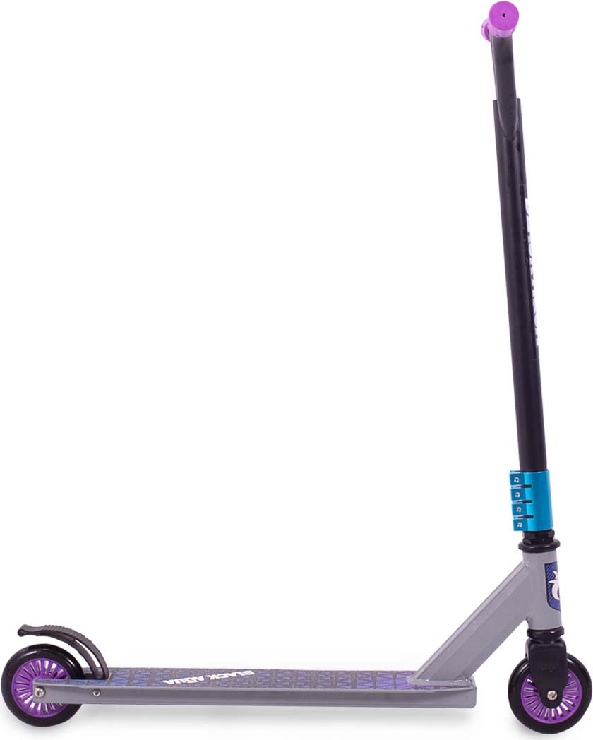 Самокат Black Aqua Stunt Scooter-3, черный, зеленый цены онлайн