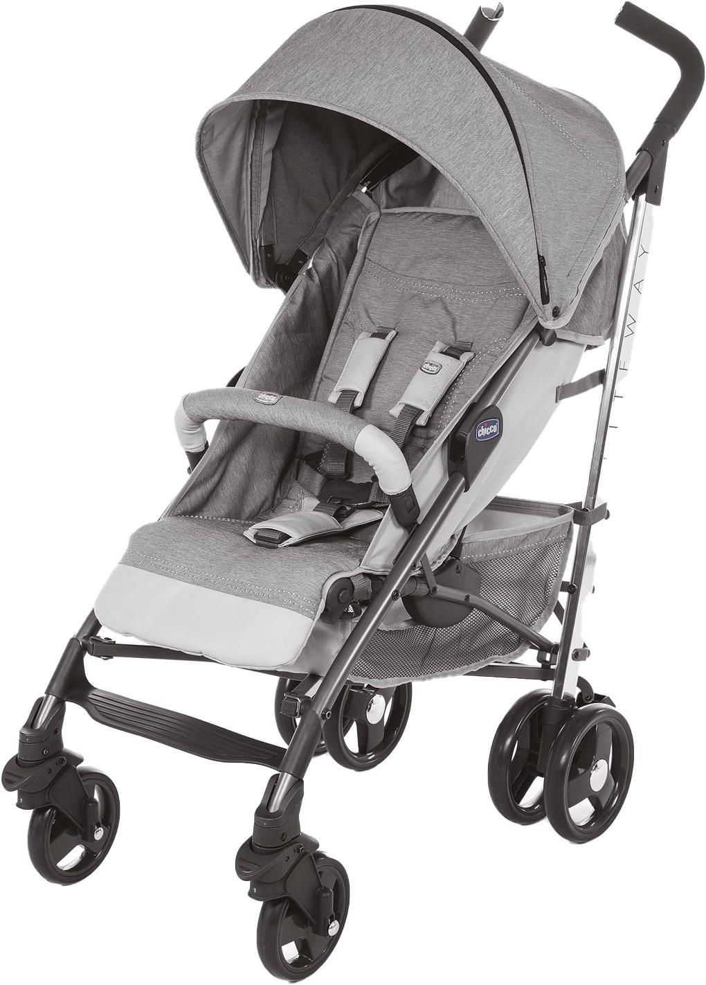 Коляска прогулочная Chicco 95501 светло-серый
