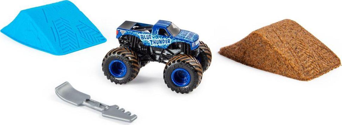 Машинка Monster Jam Kinetic Dirt Blue Thunder, 6045198_20103742 машинка monster jam figures el toro loco 6044941 20103403
