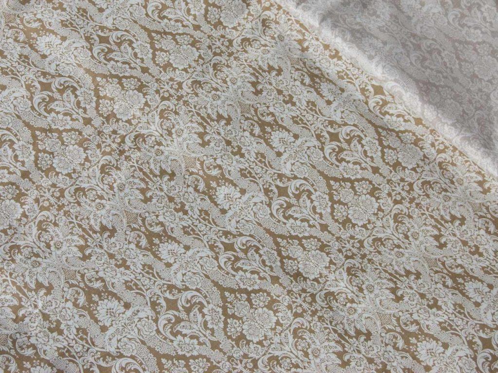 Ткань Vebertex Дамаск коричневый ткань vebertex дамаск мятный