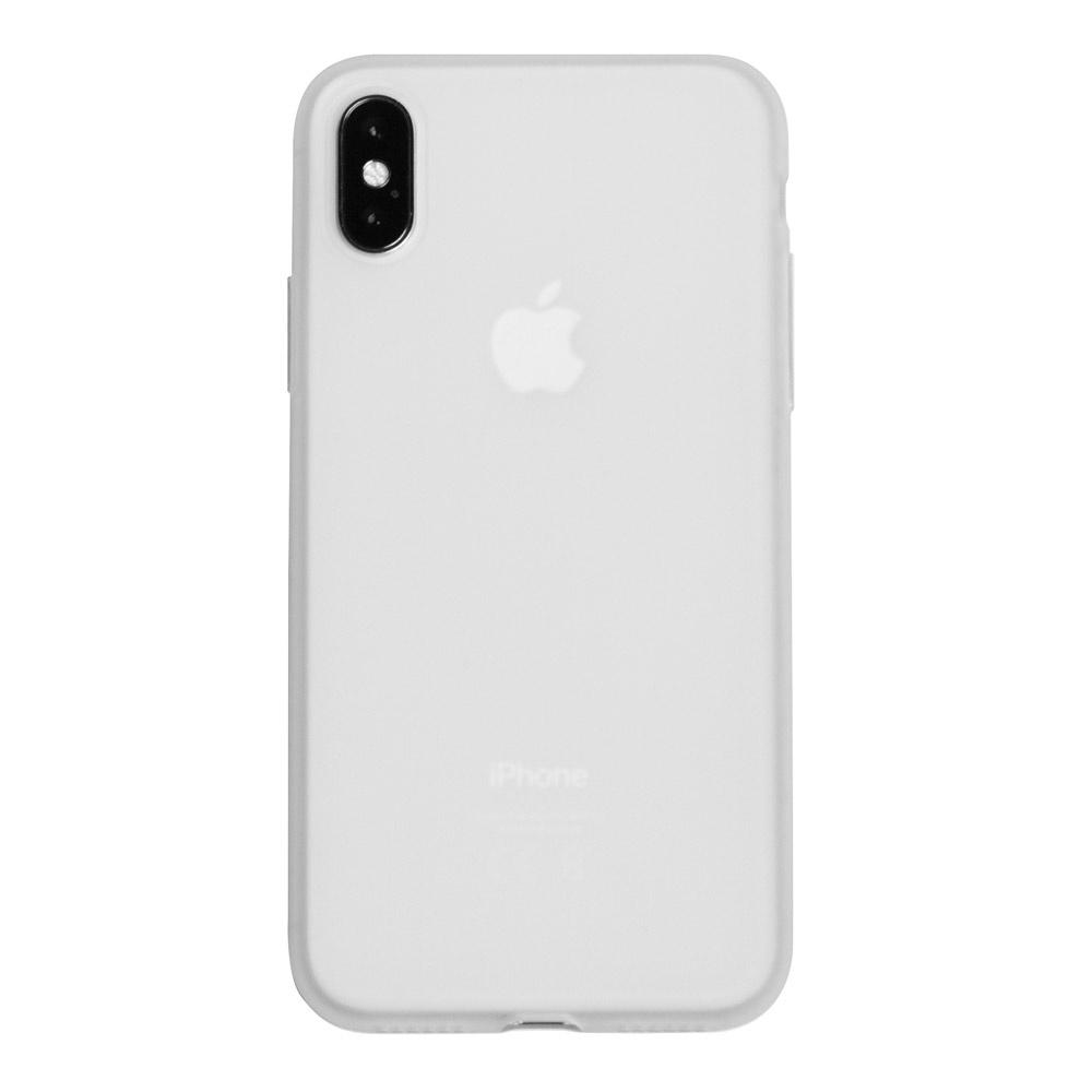 Чехол для сотового телефона ONZO MATT iPhone X, прозрачный, белый